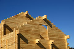 Abstract composition of new house frame construction and deep Royalty Free Stock Image