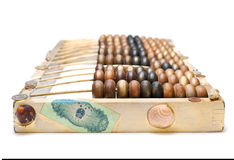 Abstract composition from the old wooden abacus Royalty Free Stock Photography