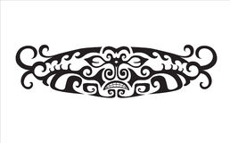 Abstract composition of the ornaments in the style of the Maori Royalty Free Stock Photos