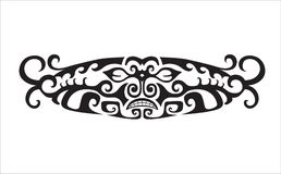 Abstract composition of the ornaments in the style of the Maori. Element in free form made in vector. Perfect cards for any other kind of design. Raster Royalty Free Stock Photos