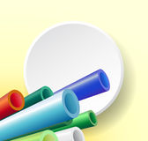 Abstract composition with pipes Royalty Free Stock Photography