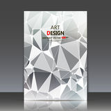 Abstract composition, polygonal construction, connecting dots and lines, a4 brochure title sheet, background, light rays surface, Stock Image