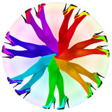Abstract composition - rainbow colors pantyhose Royalty Free Stock Photo