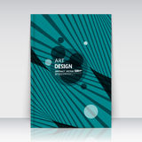 Abstract composition, round text frame surface, turquoise a4 brochure title sheet, creative figure logo sign construction, firm ba. Abstract background for your royalty free illustration
