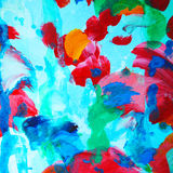 Abstract composition with scarlets, water-colour, illustration Royalty Free Stock Photography