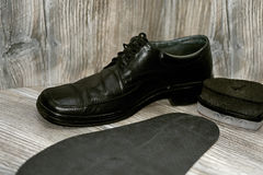Abstract composition shoes repair. Royalty Free Stock Photo