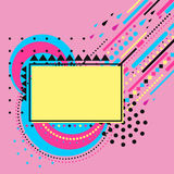 Abstract composition with simple geometric figures, art background. Postcard on March 8. Vector illustration Stock Photography