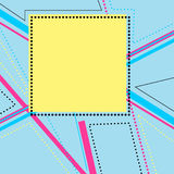 Abstract composition with simple geometric figures, art background. Vector illustration Royalty Free Stock Image