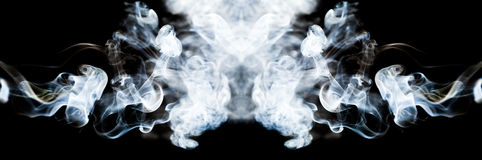 Abstract composition with smoke shapes Royalty Free Stock Images