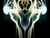 Abstract composition with smoke shapes Royalty Free Stock Image