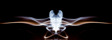 Abstract composition with smoke shapes Stock Image