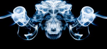 Abstract composition with smoke shapes Royalty Free Stock Photo