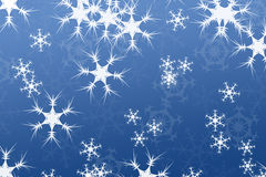 Abstract composition, snow background blue Royalty Free Stock Photos