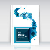 Abstract composition, square text frame surface, white a4 brochure title sheet, creative figure, logo sign construction, firm bann Stock Image