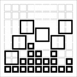 Abstract composition with squares Stock Photo