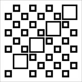 Abstract composition with squares Stock Images