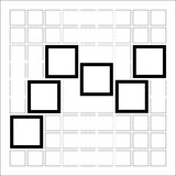 Abstract composition with squares Royalty Free Stock Photos