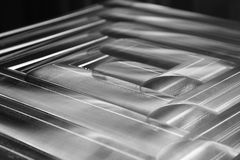 Abstract composition of treated steel Royalty Free Stock Images