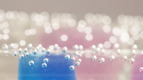 Abstract composition with underwater tubes with colorful jelly balls inside Stock Images