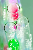 Abstract composition with underwater tubes with colorful jelly balls inside Royalty Free Stock Photo