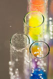 Abstract composition with underwater tubes with colorful jelly balls. Inside and bubbles royalty free illustration