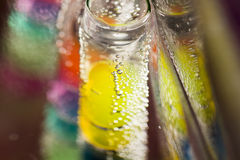 Abstract composition with underwater tubes with jelly balls and bubbles Royalty Free Stock Photography