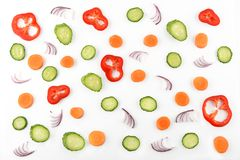 Abstract composition of vegetables. Vegetable pattern. Food back Royalty Free Stock Image