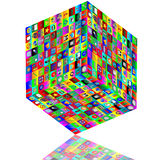 Cube with icons Stock Photos