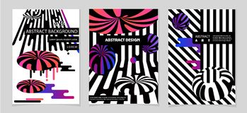 Abstract compositions from rounded bands, futuristic and modern colors. Vector template. Abstract compositions from the rounded bands, futuristic and modern Royalty Free Stock Photo