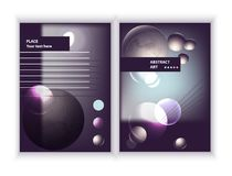 Abstract compositions from rounded bands, futuristic and modern colors. Vector template. Business report, journal or notebook. Abstract compositions from the Stock Photos