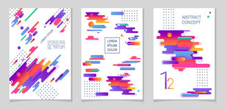 Abstract compositions from the rounded bands, futuristic and modern colors. Vector templates for posters, banners, flyers and presentations Royalty Free Stock Photos