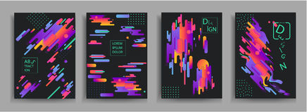 Abstract compositions from the rounded bands, futuristic and modern colors. Vector templates for posters, banners, flyers. And presentations. Vector image Royalty Free Stock Photos