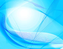 Abstract Computer Background. Computer background abstract - blue and white gradient with blue wavy lines royalty free illustration
