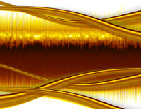 Abstract Computer Background - Gold Waves Royalty Free Stock Photos