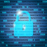 Abstract computer background - security concept Stock Image