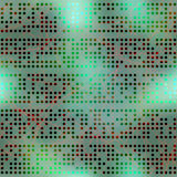 Abstract computer dots on blur background Royalty Free Stock Images