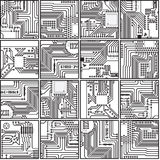Abstract computer electronics circuit board patter Stock Photo