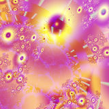 Abstract, computer-generated fractal. Fractal images are created by repeatedly calculating a fractal formula. Although these formulas are purely mathematical the royalty free illustration