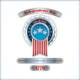 Abstract computer grafisch ontwerp met nationale vlagkleuren voor four Juli, Amerikaanse Onafhankelijkheidsdag Royalty-vrije Stock Afbeeldingen