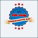 Abstract computer grafisch ontwerp voor four Juli, Amerikaanse Onafhankelijkheidsdag Royalty-vrije Stock Afbeeldingen