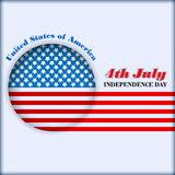 Abstract computer graphic design  for fourth July, American Independence Day Royalty Free Stock Images
