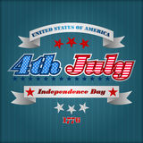 Abstract computer graphic design for fourth July, American Independence Day Stock Photo