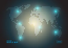 World map of round dots. vector illustration