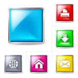 Abstract computer internet icons Royalty Free Stock Photos