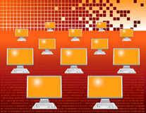 Abstract computer monitors Royalty Free Stock Image