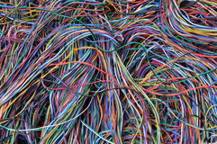 Abstract computer network connections Royalty Free Stock Images