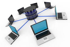 Abstract computer network and database. Concept. Stock Image