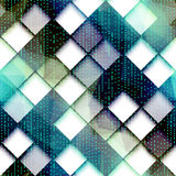 Abstract computer pattern with the green dots. Royalty Free Stock Image
