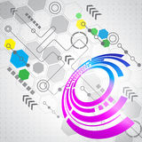 Abstract computer technology business background, vector. Innovation Stock Images