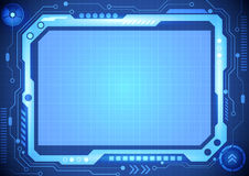 Abstract computer technology concept business background, vector illustration. Innovation Royalty Free Stock Photos